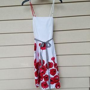 Alyn Paige Red poppy swing dress size 9/10